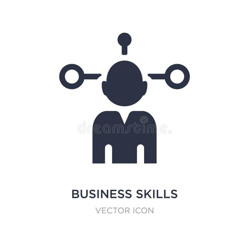 bedrijfsvaardighedenpictogram op witte achtergrond Eenvoudige elementenillustratie van Bedrijfs en analyticsconcept stock illustratie