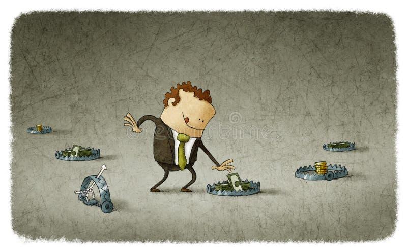 Bedrijfsval stock illustratie