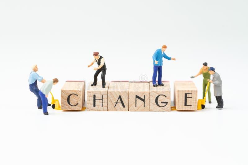 Bedrijfsverandering, transformatie of zelfontplooiing voor succesconce royalty-vrije stock afbeelding
