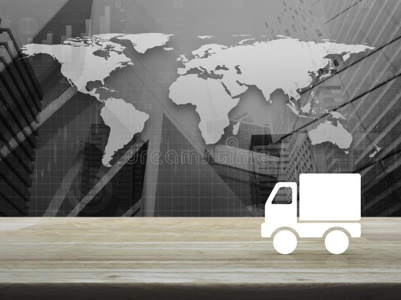 Bedrijfsvervoersconcept, Elementen van dit beeld furnishe stock illustratie