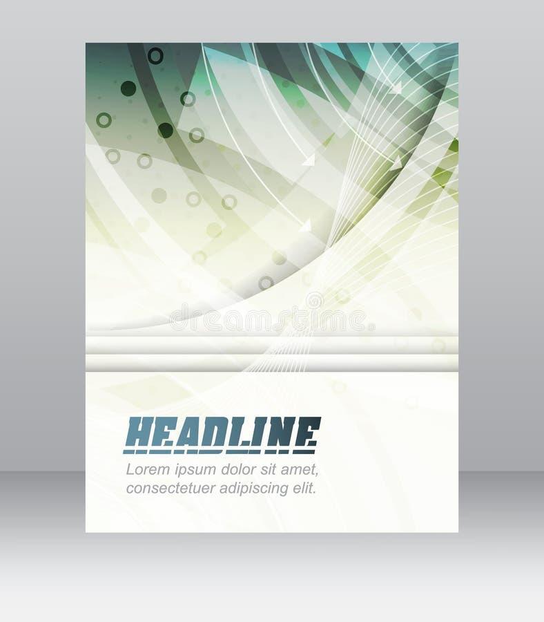 Bedrijfsvliegermalplaatje, brochure, dekkingsontwerp, omslag of collectieve banner met technologische structuur vector illustratie