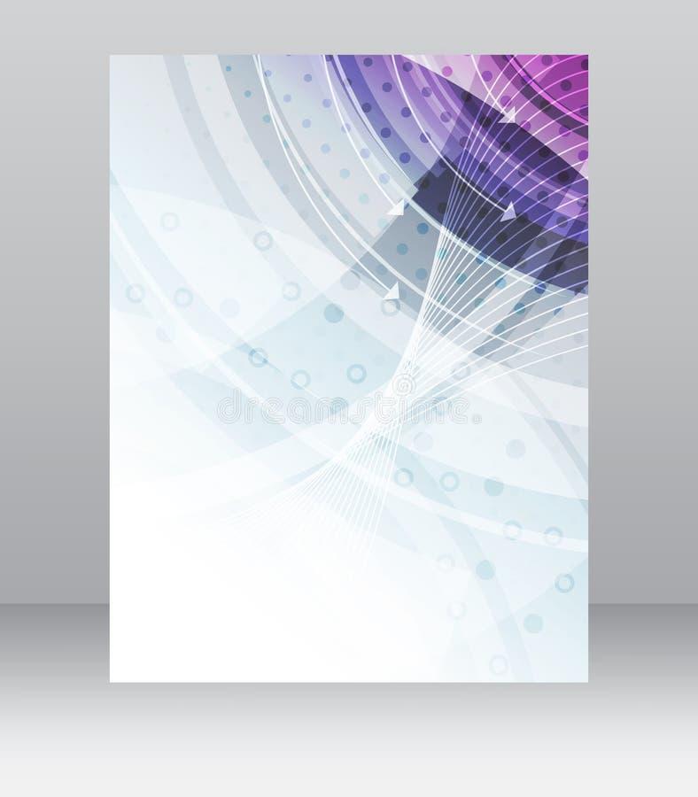 Bedrijfsvliegermalplaatje, brochure, dekkingsontwerp, omslag of collectieve banner met technologische structuur royalty-vrije illustratie