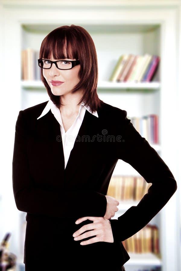 Bedrijfsvrouw. stock afbeelding