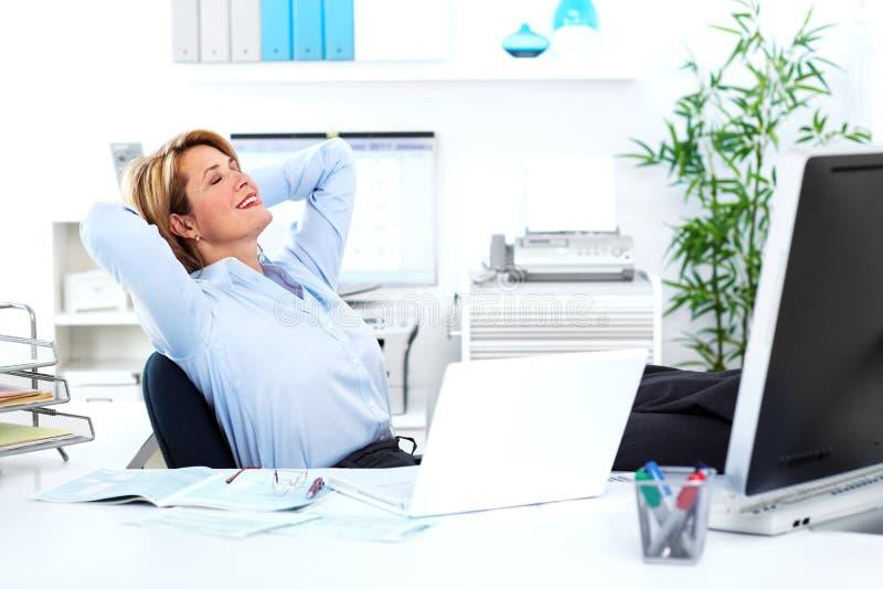 Bedrijfsvrouw. stock fotografie