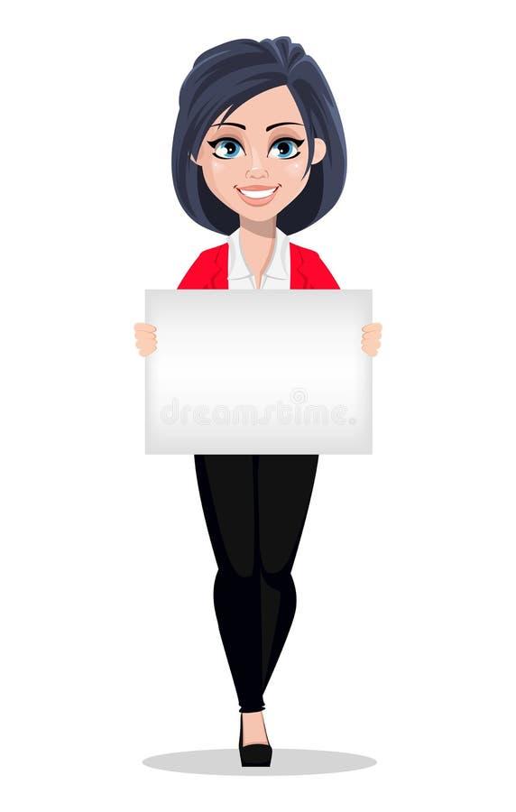 Bedrijfsvrouw, manager, bankier Mooie vrouwelijke bankier in pak royalty-vrije illustratie