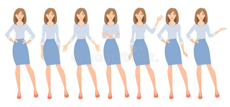 Bedrijfsvrouwenreeks vector illustratie