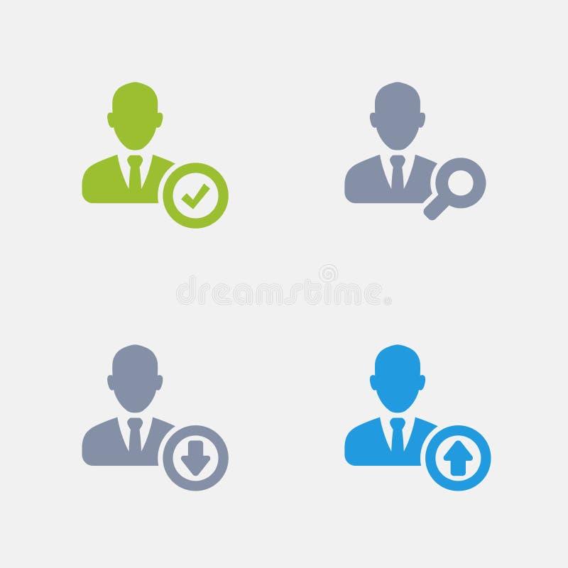 Bedrijfswerkgelegenheid - Granietpictogrammen vector illustratie