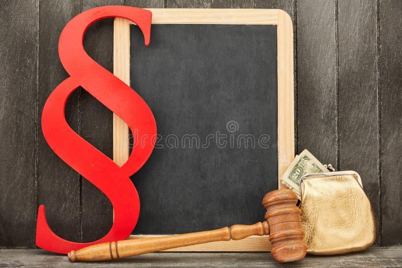 Bedrijfswet en van de Bankwezenwet Concept met Geld stock foto's