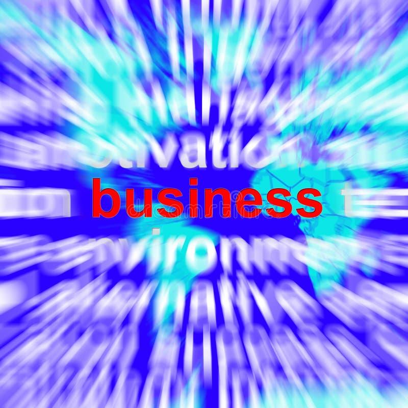 Bedrijfsword die Handelsvennootschap en Handel vertegenwoordigen royalty-vrije illustratie
