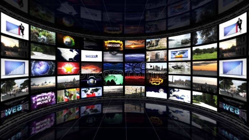 Bedrijfszaal, Grafieken en Grafieken, Computer Grafische Achtergrond stock foto's