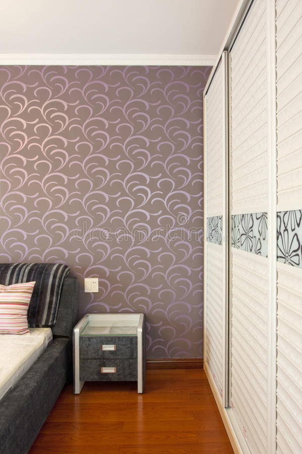 Download Bedroom stock image. Image of wardrobe, purple, pattern - 13662995