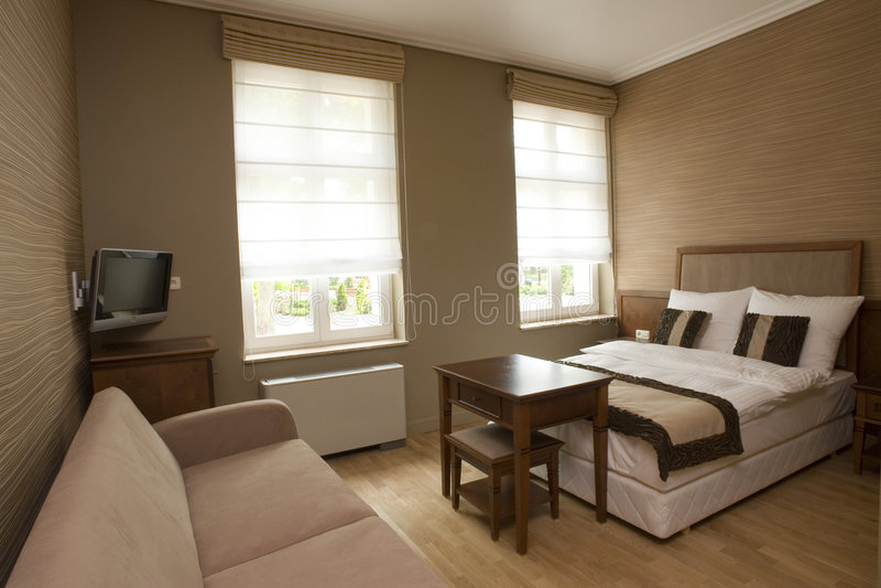 Download Bedroom stock photo. Image of parquet, heater, windows - 2539400