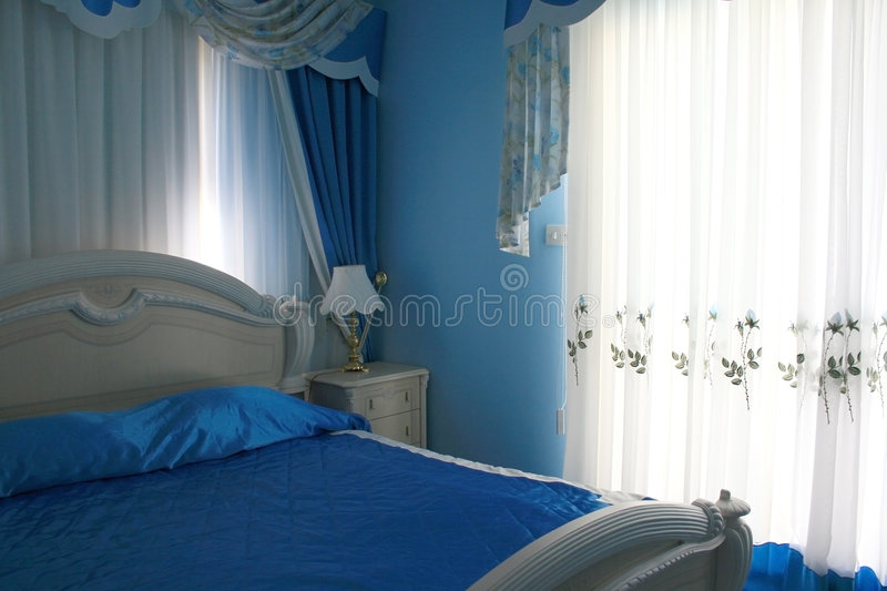 Download Bedroom stock photo. Image of curves, bedding, decoration - 3192296