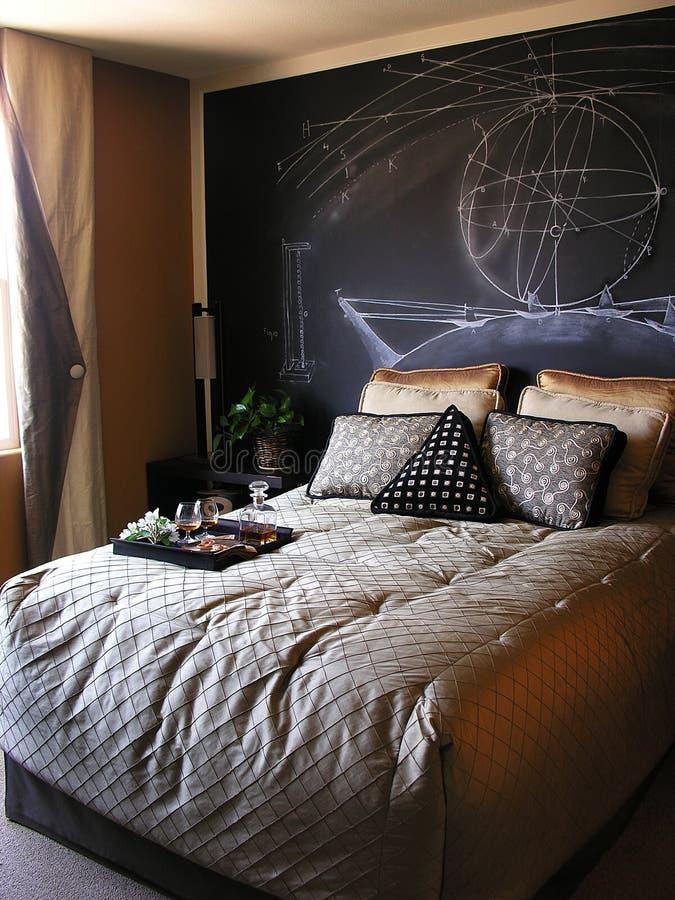 Bedroom. Scientist themed bedroom stock photos