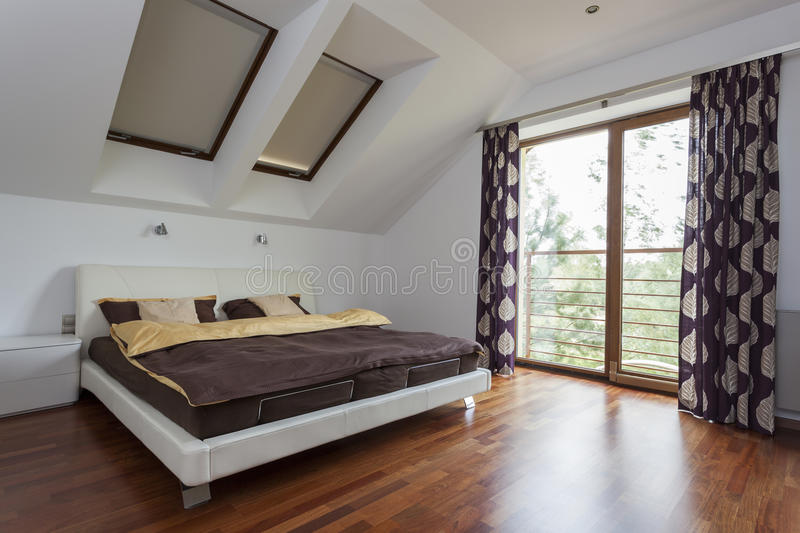 Download Bedroom with balcony stock photo. Image of domestic, contemporary - 27138260