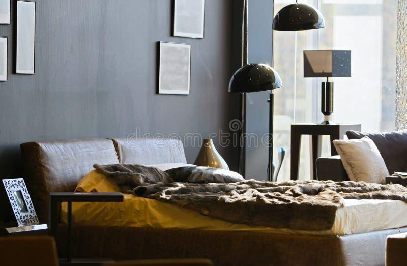 Download Bedroom stock image. Image of equipment, decorating, brown - 55150131