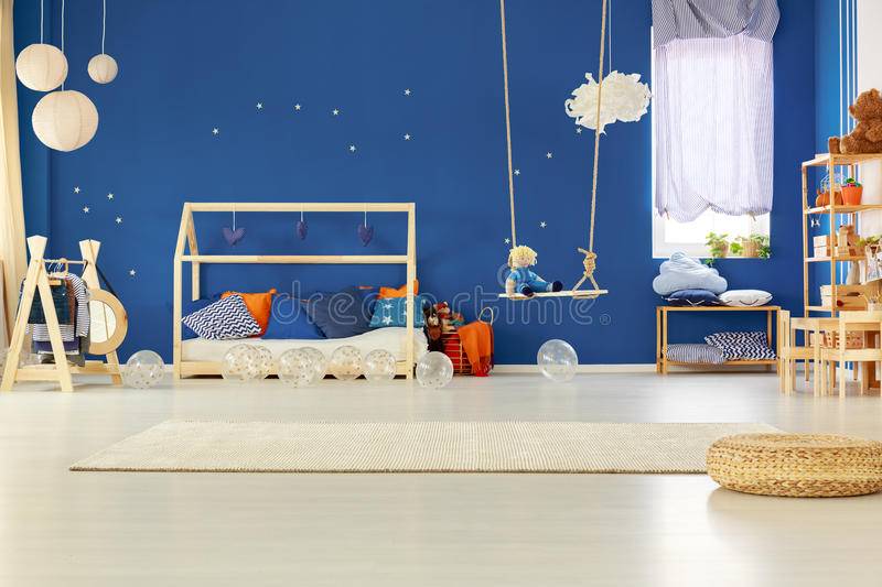 Bedroom of child royalty free stock photos