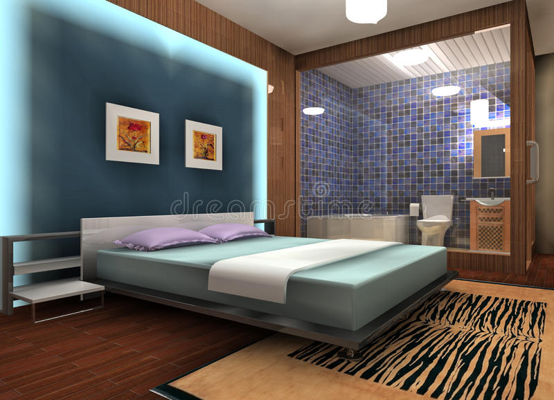 Bedroom design vector illustration