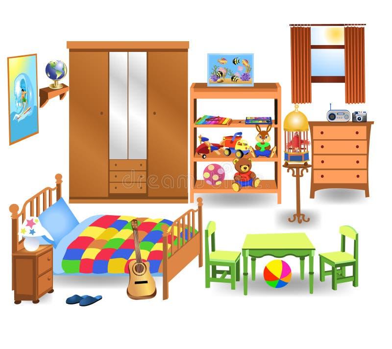 Bedroom furniture. Vector set of bedroom furniture