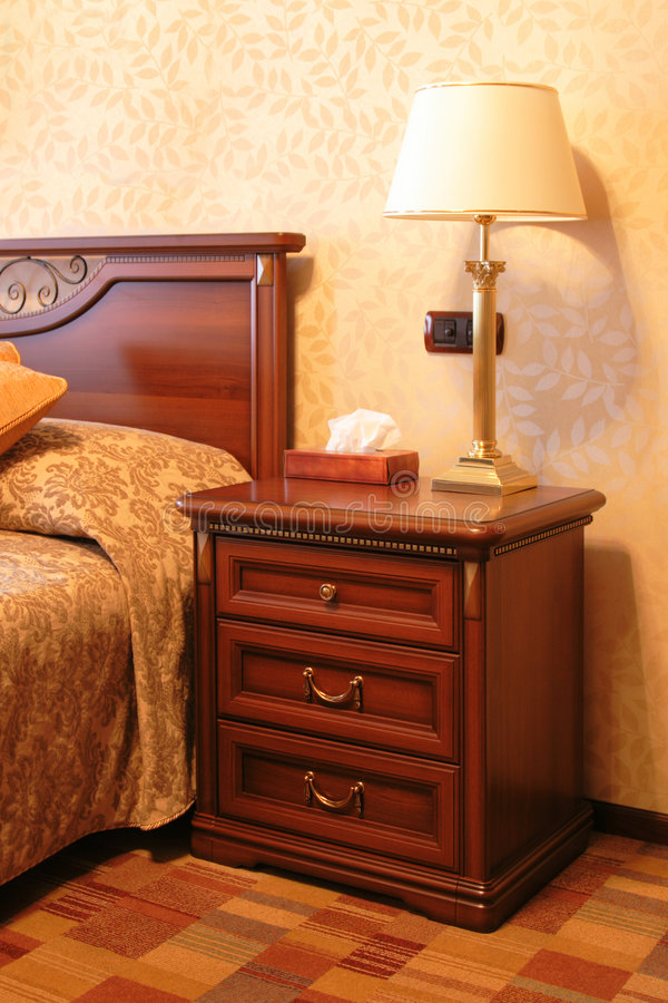 Download Bedroom in hotel stock image. Image of comfortable, table - 7876093