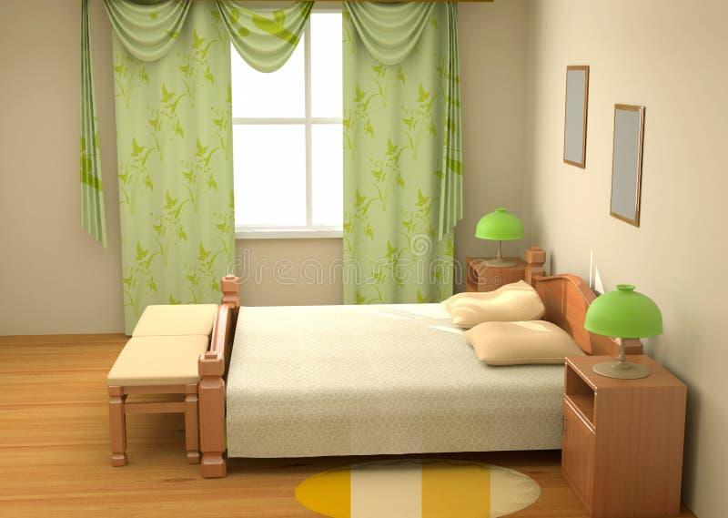 Download Bedroom Interior 3d Stock Photo - Image: 4814220