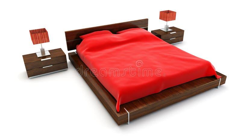 Bedroom interior royalty free illustration