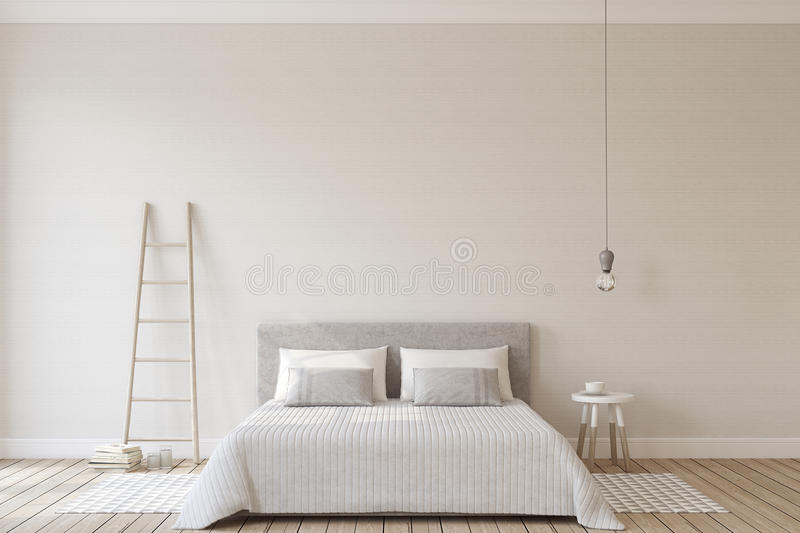 Bedroom interior. 3d render. stock illustration