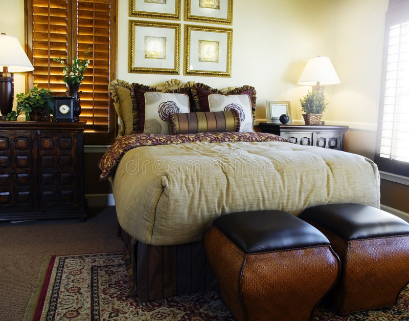 Bedroom Interior Design stock images