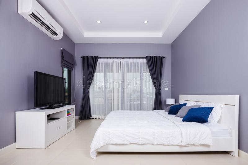 Bedroom interior in home royalty free stock photo