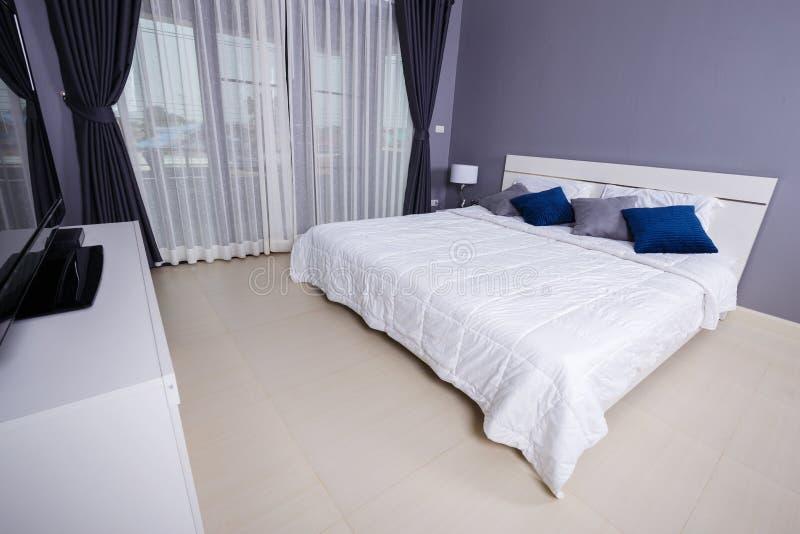 Bedroom interior in home stock photos