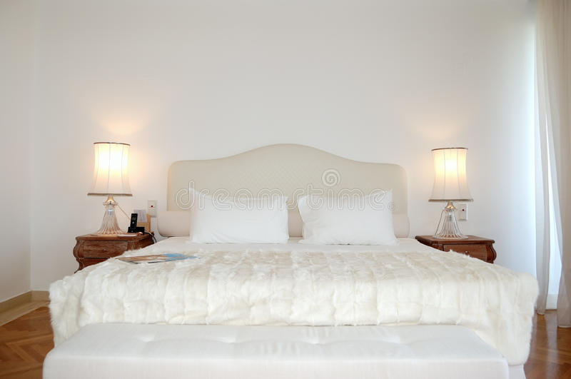 The bedroom in luxury apartment of modern hotel stock photo