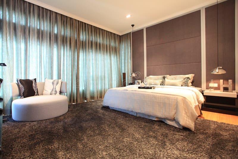 Bedroom in Luxury Condo in Kuala Lumpur royalty free stock photos