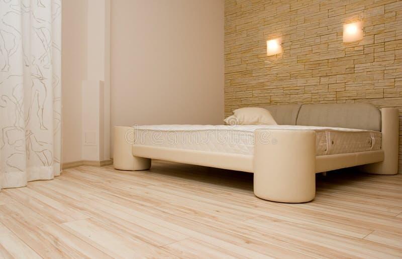 Bedroom modern interior royalty free stock image