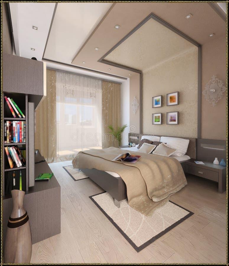 Bedroom Modern Style Interior Design 3d Render Stock Illustration Illustration Of Style Concept 60245054