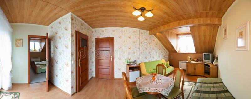 Bedroom panorama royalty free stock photos