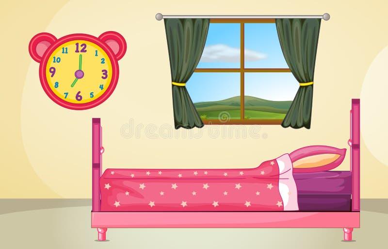 Bedroom setting vector illustration