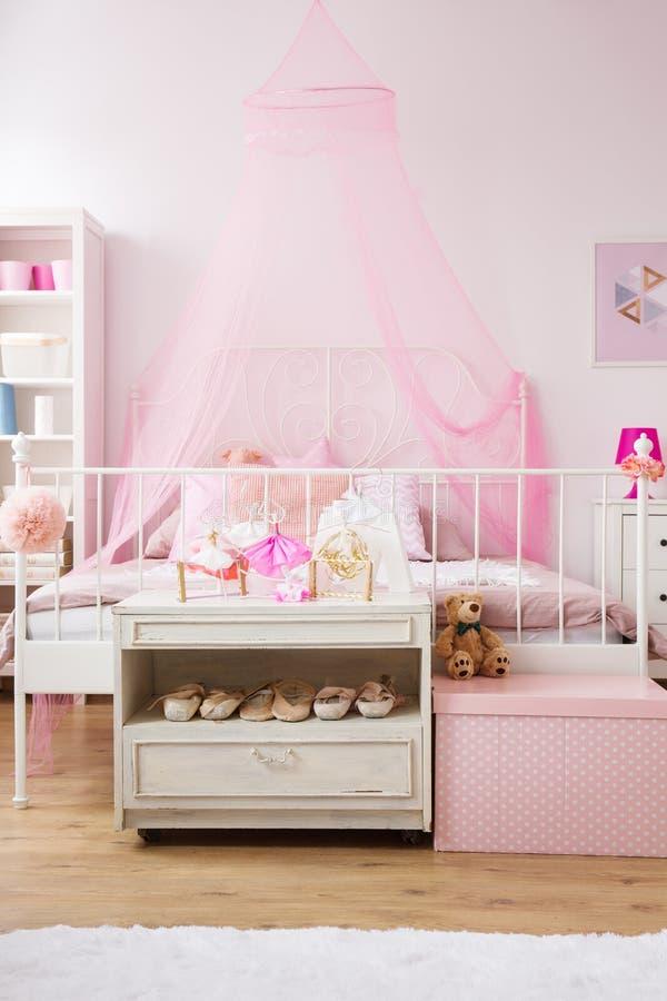 Bedroom of tiny ballet dancer stock images