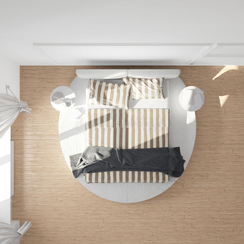 Bedroom top view royalty free illustration