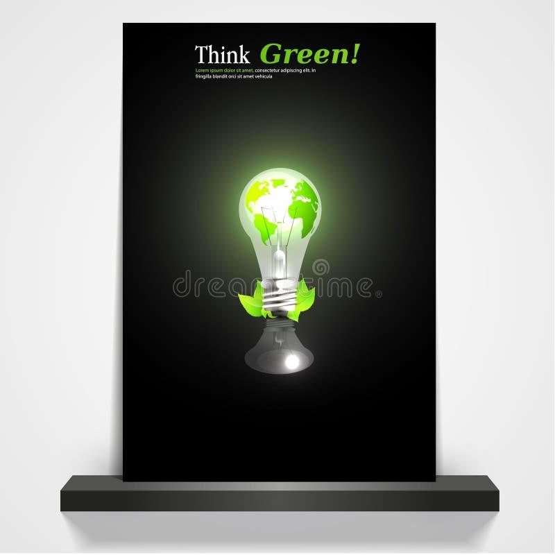 Bedruckbare grüne eco Zeitschrift oder Fliegerabdeckung, vektor abbildung