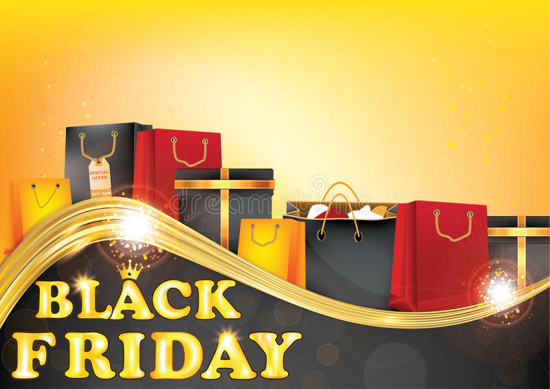 Bedruckbarer Hintergrund Black Friday-Verkaufs stock abbildung