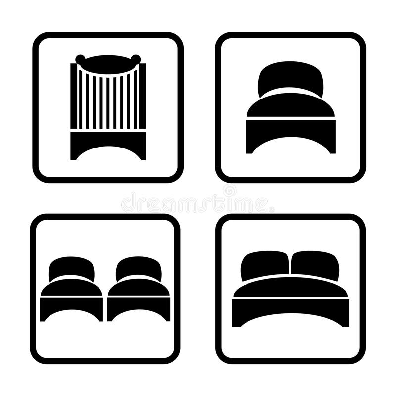 Free Beds Icon Set Stock Photography - 26393522
