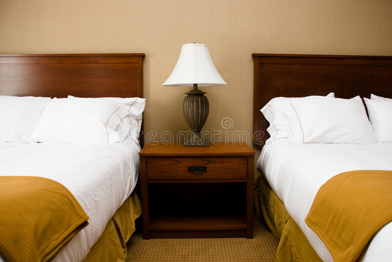 Download Beds, Table & Lamp - Horizontal. Stock Image - Image: 10708963