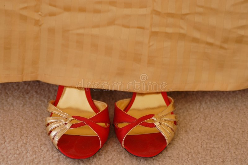 Bedside Shoes stock photography