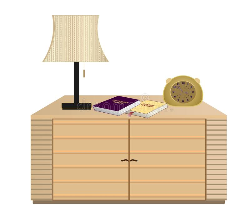 Bedside table with lamp books and clock stock vector illustration download bedside table with lamp books and clock stock vector illustration of flat mozeypictures Gallery