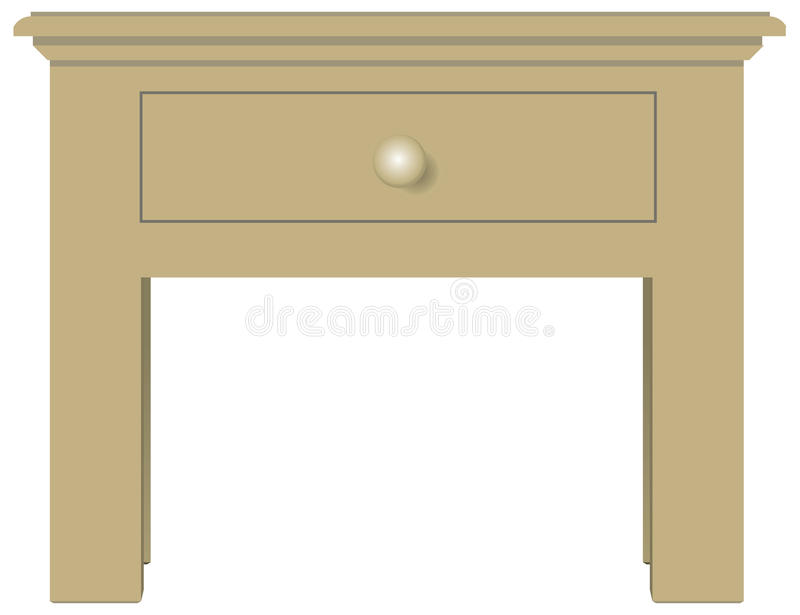 Bedside table with one drawer. Classical bedside table with one drawer. Vector illustration vector illustration
