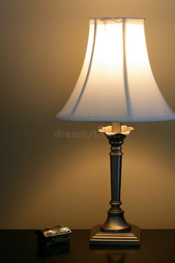 bedsidelampa arkivbilder