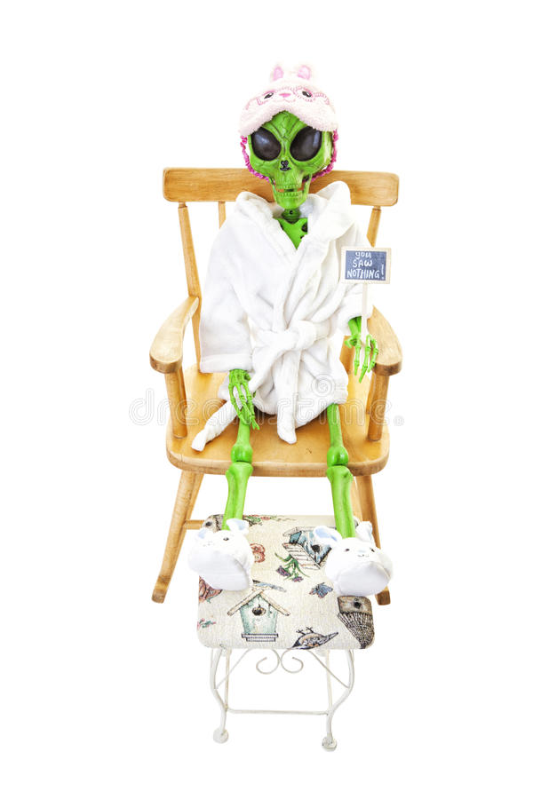 Bedtime Alien stock images