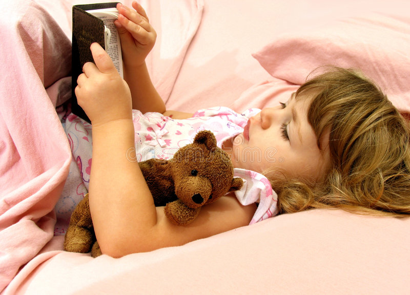 Bedtime Bible Story royalty free stock photo