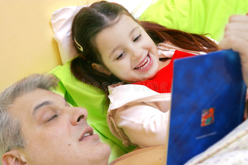 Download Bedtime story stock photo. Image of cosy, father, time - 776672