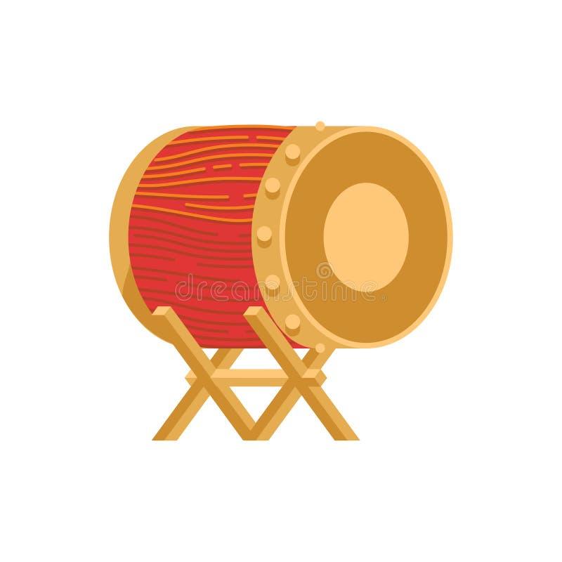 Bedug Indonesian moslem drum vector illustration